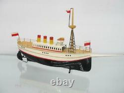 1900s GERMAN CARETTE TIN WINDUP OCEAN LINER STEAM BOAT SHIP TOY MARKLIN RESTORED