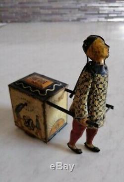 1903-1913 GERMANY LEHMANN NU-NU 733 Tea Cart Wind Up TIN TOY USA Seller