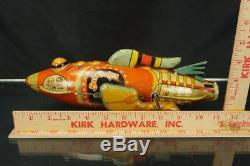 1920's Marx Buck Rodgers Rocket Space Ship Tin Wind Up Toy Vintage Original