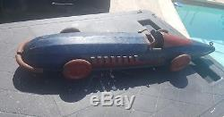 1920 s buffalo tin vintage wind up racer race antique toy car