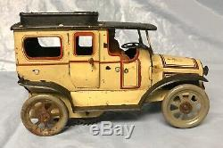 1920s German Tin Windup Orobr Auto with Opening Doors