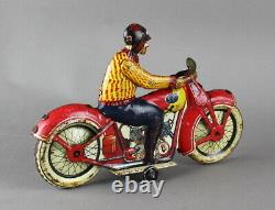 1920s JML France Tin Wind up Motorcycle Working Pre-War Tin Toy