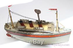 1928-1931 Bing Tin German #10/341/3 Variation Clockwork Windup Ship Ocean Liner