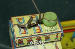 1928 Marx The Big Parade Street Tin Wind Up Toy Vintage Soldier Original Works
