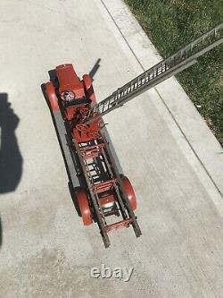 1930S KINGSBURY Fire LADDER TRUCK ALL ORIGINAL Ladders Bell