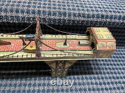 1930 Vintage MARX BUSY BRIDGE TIN LITHO Windup ToyProbaly Needs Oil/TLC
