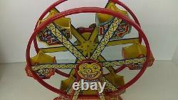 1930's Chein Tin Wind-UP Hercules Ferris Wheel With Original Box Working