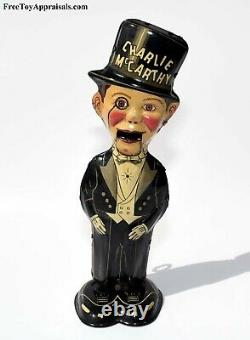 1930's Louis Marx Charlie McCarthy Wind-up Tin Toy Stunning Condition L@@K