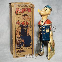1930's MARX POPEYE With Parrots Cages & Original Box Tin Litho Wind-Up