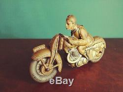 1930's SS Saalheimer & Strauss Tin Wind-up Military Wehrmacht Motorcycle