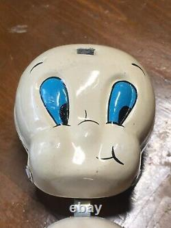 1930s40s RARE LINEMAR TIN WIND-UP 5 TALL TWIRLING CASPER THE FRIENDLY GHOST