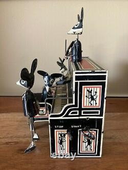 1930s MARX MERRY MAKERS MOUSE BAND TIN TOY WORKS WELL