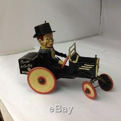 1930s MARX TOYS CHARLIE McCARTHY Edgar Bergen Wind Up Tin CRAZY CAR G-111