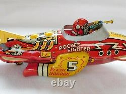 1930s Marx Flash Gordon Tin Rocket Fighter Wind Up Toy. King Features Syndicated