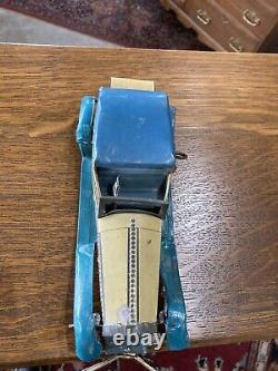 1930s Wells Toy Co England Rolls Royce Convertible Tin Clockwork Wind up Toy