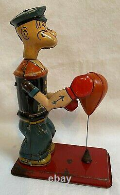 1932 J Chein Popeye Bag Puncher Excellent Condition With Display Box