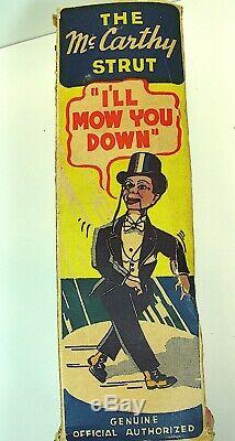 1938 Charlie McCarthy Marx Tin Wind-Up Walker With Rare Org. Box Great Toy