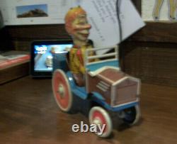 1939 Marx MORTIMER SNERD Tin Lithographed Mechanical Wind Up CRAZY CAR
