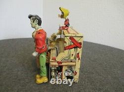 1940s L'IL ABNER DOG PATCH 4 PIANO LITHO TIN WIND UP TOY UNIQUE ART USA RUN/STOP