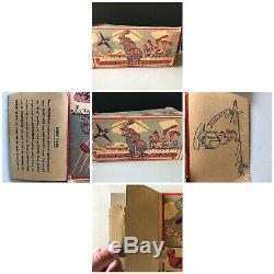 1940s Unique Art Flying Circus Vintage Tin Wind Up Toy with Original Box + extras