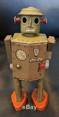1949 Atomic Robot Man Tin Windup Japan Original Vintage Wind Up Space Toy