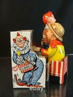 1950'S UNIQUE ART HOWDY DOODY BAND TIN WIND UP TOY BOB SMITH CHARACTER With BOX