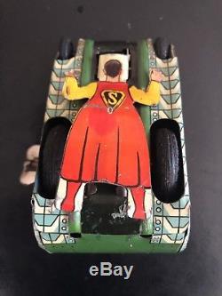 1950 Vintage Superman Wind-Up Turn-over Tank