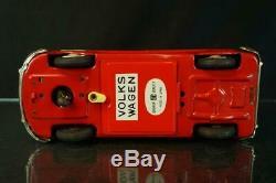 1950's Bandai Japan Made Volkswagen Bus Tin Battery Op 9.5 Original Toy Vintage