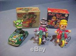 1960s Nutty Mad monster toys MARX windup tin litho toys set of 3 & boxes