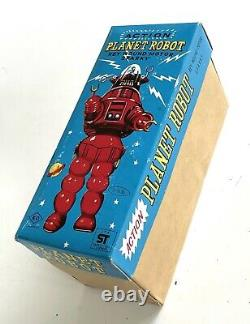 1960s Vintage Action Planet ROBOT TOY Wind-Up MIB Robbie the Robot Japan by KO