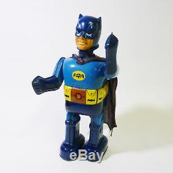 1960s Vintage Japanese NOMURA Batman Robin Tin Litho Toy WORKING CONDITION