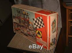 1970 TECHNOFIX NR. 328 RALLYE With4 RACE CARS SET, 100% COMPLETE & WORKING WithBOX