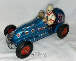 #21 Battery Operated Yonezawa Electro Special Midget Racer Blue Version