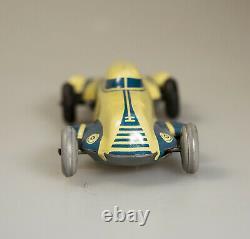 ANTIQUE GERMANY US ZONE TIN TOY RACE CAR GESCHA AUTO UNION 1940s RARE