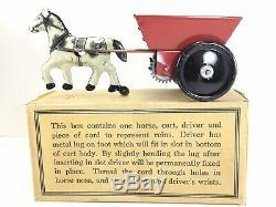 ANTIQUE Marx Mechanical windup Horse & Cart Popeye Driver/Original Box