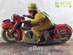 Amazing RARE Vintage Toy SCHUCO Tinplate Motorcycle 1006 Nº6 (US ZONE GERMANY)
