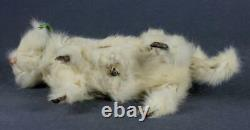 Antique 10 French mechanical toy doll cat Wind-up Clockwork Roullet et Decamps