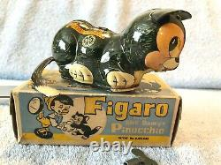 Antique 1930's MARX Disney Figaro Tin-Wind Up Roll-Over Toy ORIGINAL BOX Works