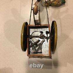 Antique Ferdinand Strauss Co JENNY The BALKING MULE TIN WINDUP Toy