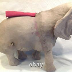 Antique French mechanical wind up walking Roullet and Decamps elephant