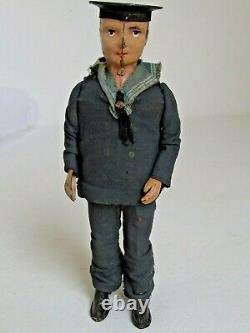 Antique German Lehmann Tin Wind-Up Sailor Toy