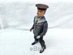Antique Lehmann E. P. L. 535 Drunken Dancing Sailor Litho Windup Tin Toy Germany
