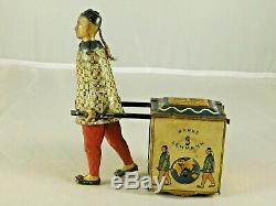 Antique Marke Lehmann Tin Litho Windup Nu-nu 733