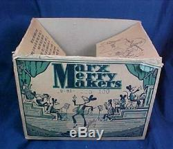 Antique Marx Merry Makers Mouse Band Tin Litho Wind Up Toy With Box Complete