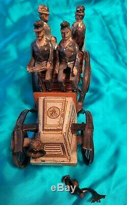 Antique Original Gunthermann Wind Up Touring Auto Car Germany Tin Plate Toy