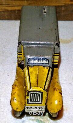 Antique Pre-war TippCo TC-753 Truck Tin Toy Made in Germany 100%Orig. WORKS