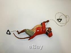 Antique Rare Old German Friction Toy Tin Climbing Monkey Tom 700 Lehmann Works