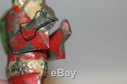Antique Santa Claus Gunthermann Christmas Vintage Tin Metal Toy Germany Wind Up