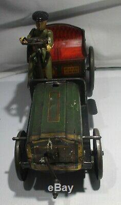 Antique Tin Delivery Car Toy JLH Hess Hessmobil Germany 9