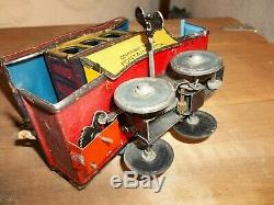 Antique Tin Toy Wind-Up Fontaine Fox Toonerville Trolley Germany 1922